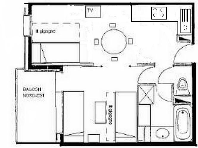 Plan de la location Location Studio 59132 Valmorel