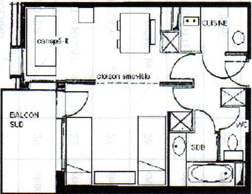 Plan de la location Location Appartement 59253 Valmorel