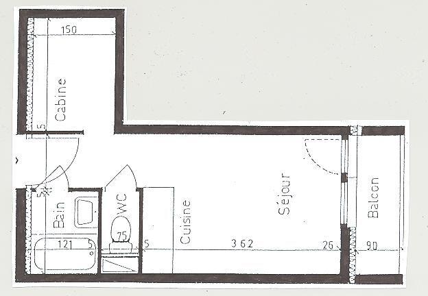 Plan de la location Location Studio 59631 Les Menuires