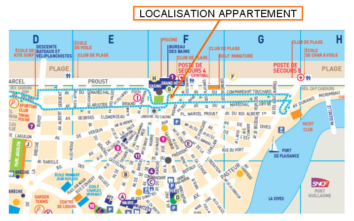 Carte Location Appartement 63247 Cabourg