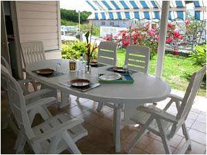 Terrasse Location Villa 8123 Sainte Anne (Martinique)