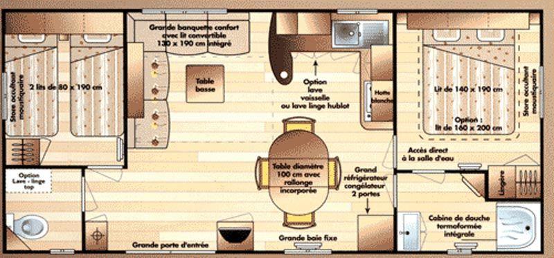 Plan de la location Location Mobil-home 8476 Fréjus