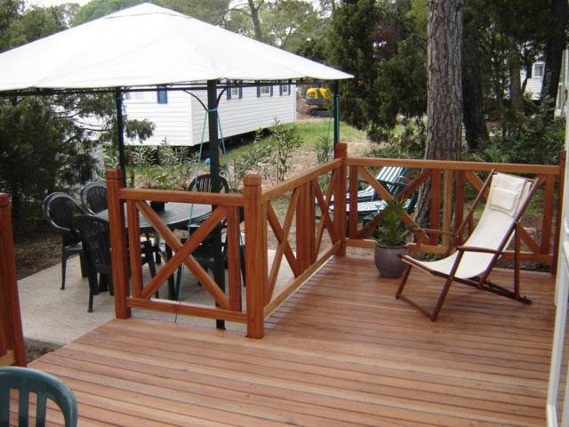 Vue de la terrasse Location Mobil-home 8476 Fréjus