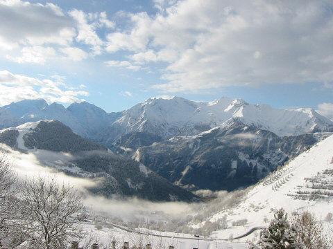 Vue de la terrasse Location Appartement 92 Alpe d'Huez