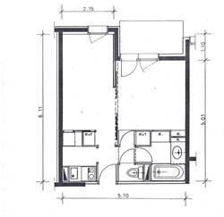 Plan de la location Location Studio 66008 Valmorel