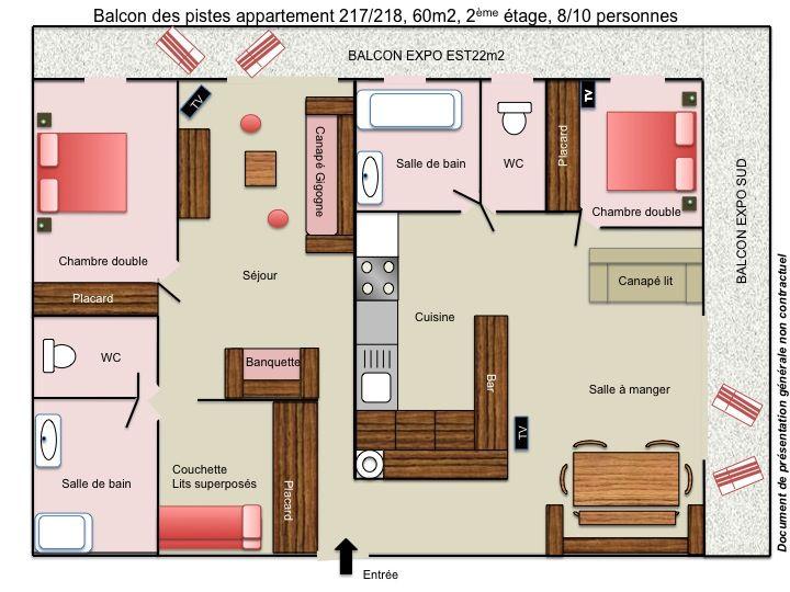 Plan de la location Location Appartement 87190 Les 2 Alpes