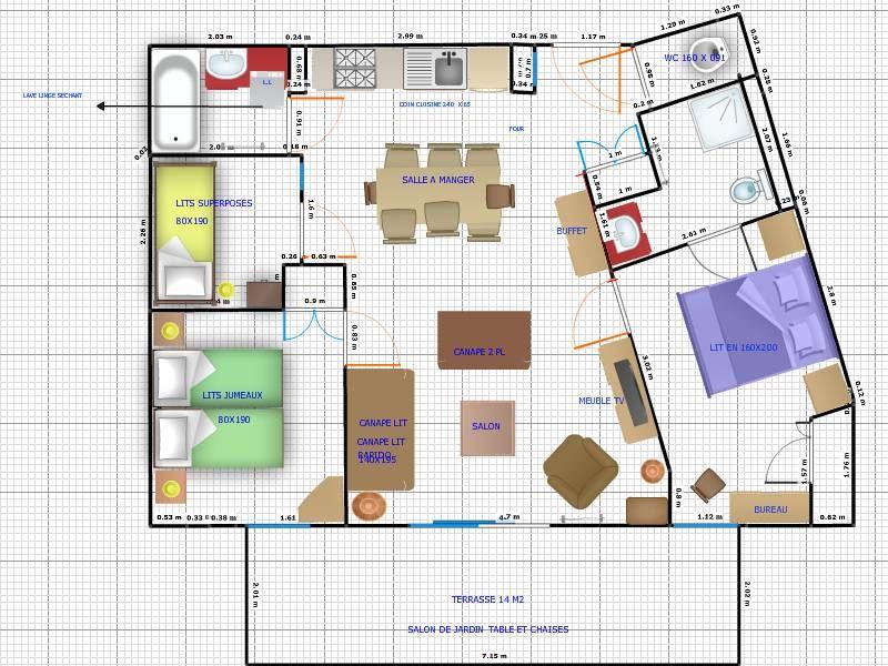 Plan de la location Location Appartement 66491 Les Saisies