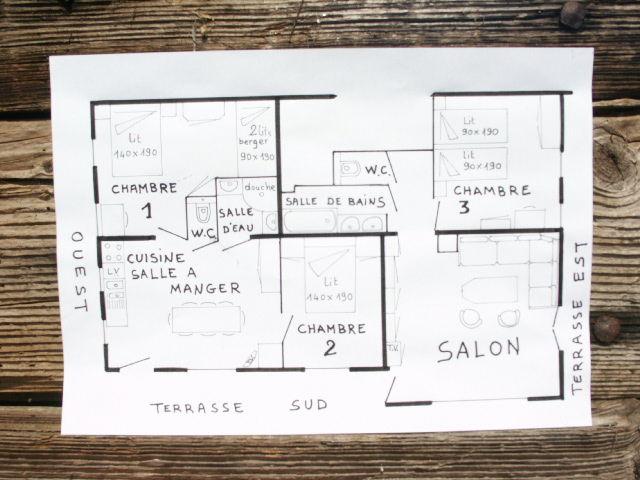 Plan de la location Location Appartement 73326 La Clusaz