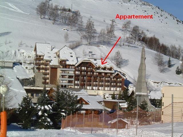 Vue extérieure de la location Location Appartement 85753 Les 2 Alpes