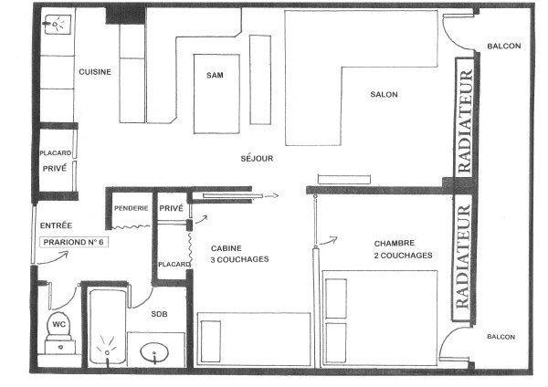 Plan de la location Location Appartement 66362 Val d'Isère