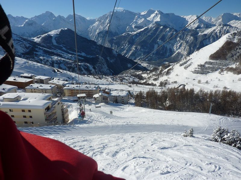 Vue depuis la location Location Appartement 82325 Alpe d'Huez