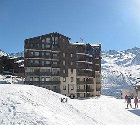 Vue extérieure de la location Location Appartement 92048 Val Thorens