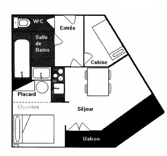 Plan de la location Location Appartement 92048 Val Thorens
