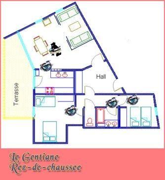 Plan de la location Location Appartement 197 Les Arcs