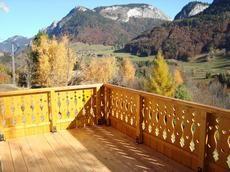 Vue de la terrasse Location Appartement 71879 Bellevaux Hirmentaz La Chèvrerie