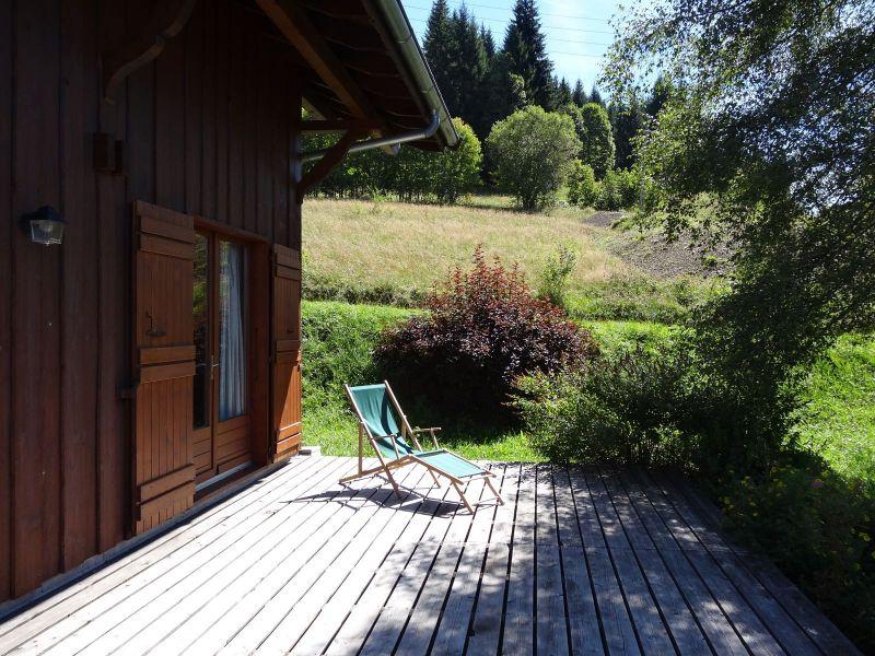 Vue de la terrasse Location Chalet 104727 Les Gets