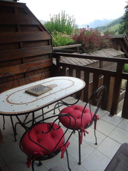 Vue de la terrasse Location Appartement 106688 Serre Chevalier