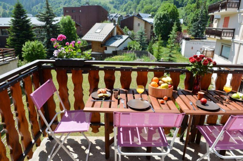 Vue du balcon Location Appartement 107322 Valloire