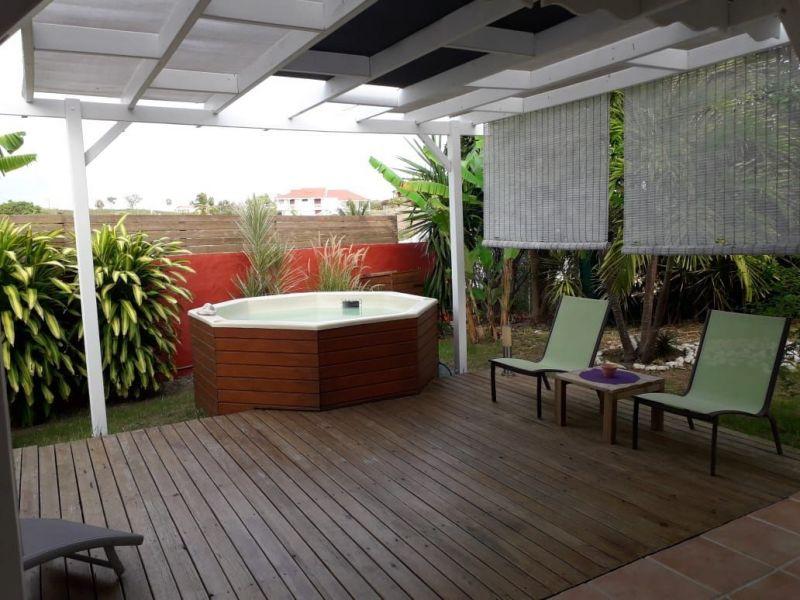 Vue de la terrasse Location Appartement 116020 Sainte Anne (Guadeloupe)