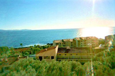 Vue de la terrasse Location Studio 66053 Ajaccio