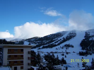 Vue de la terrasse Location Appartement 66936 Gr�oli�res Les Neiges