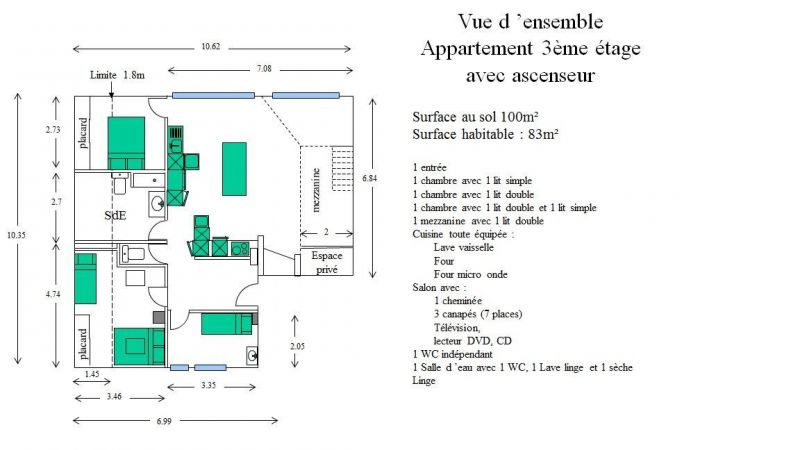 Plan de la location Location Appartement 67586 Les Gets
