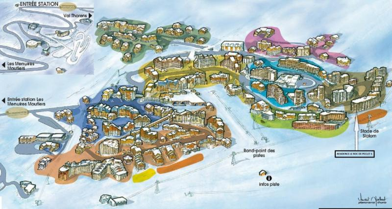 Plan de la location Location Studio 73962 Val Thorens