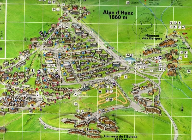 Plan de la location Location Appartement 75867 Alpe d'Huez
