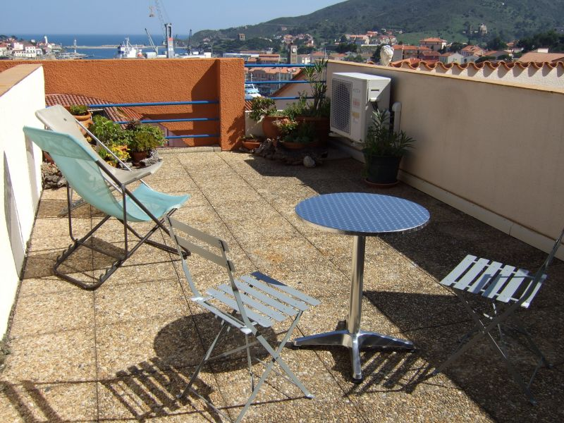 Vue de la terrasse Location Studio 94422 Collioure