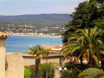 Vue de la terrasse Location Studio 98998 Saint Cyr sur Mer