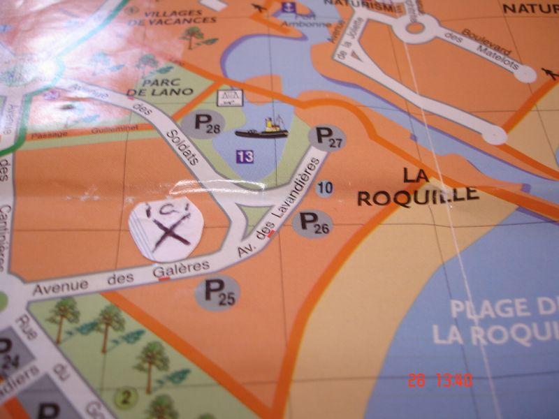 Carte Location Studio 102337 Cap d'Agde