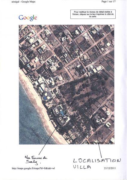 Plan de la location Location Appartement 111793 Saly