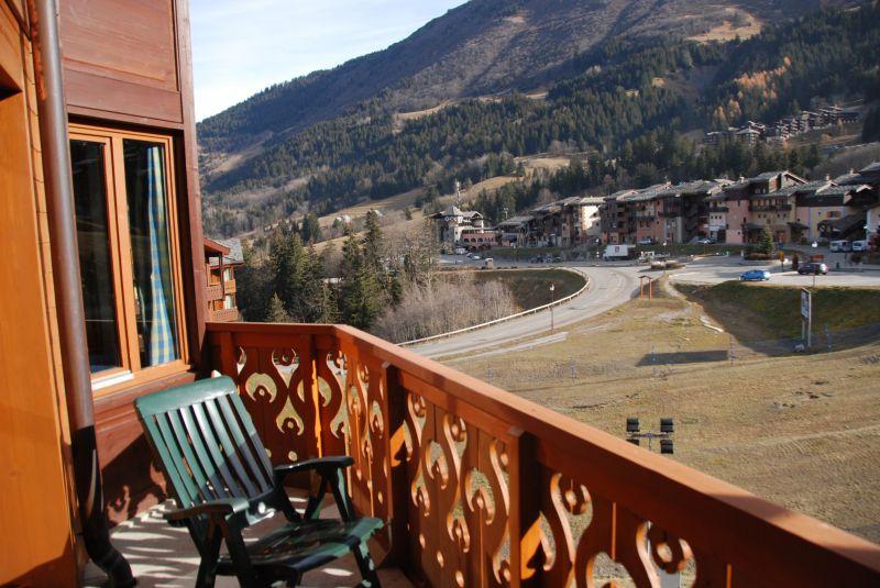 Vue du balcon Location Appartement 112087 Valmorel
