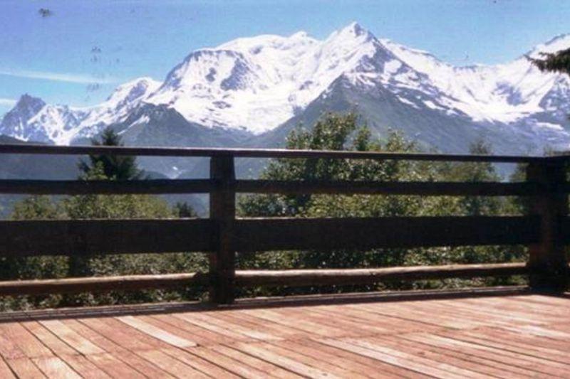Vue de la terrasse Location Chalet 116854 Saint Gervais Mont-Blanc