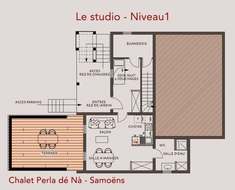 Plan de la location Location Chalet 117698 Samoëns