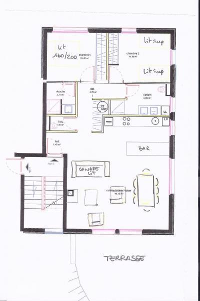 Plan de la location Location Appartement 76575 Valmorel