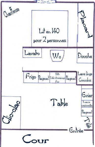 Plan de la location Location Appartement 79185 Gruissan-Plage