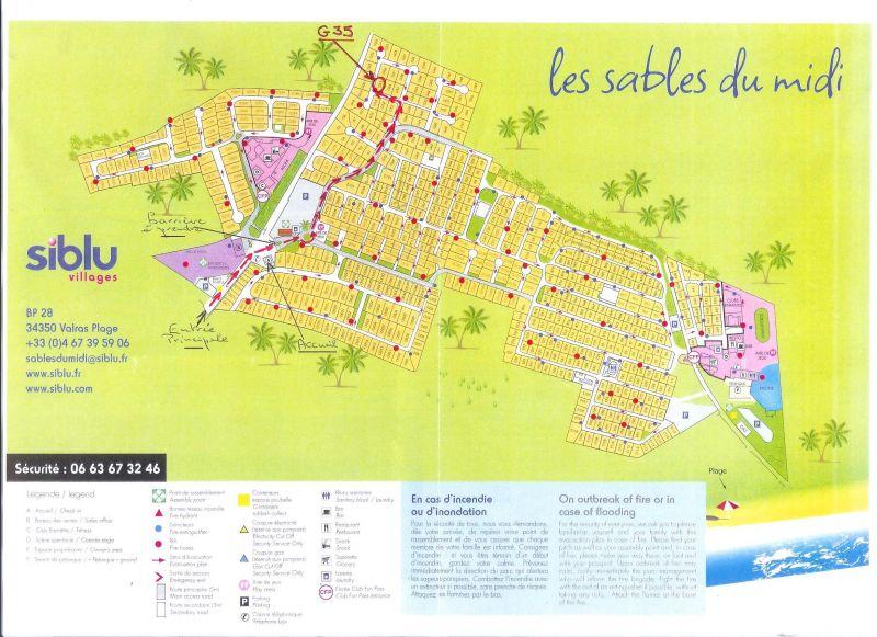 Plan de la location Location Mobil-home 81101 Valras-Plage