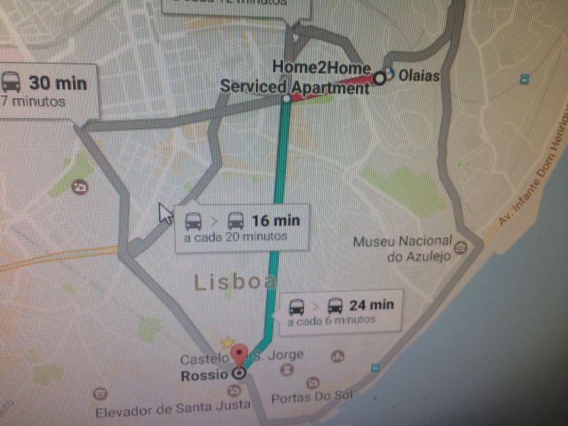 Carte Location Appartement 106641 Lisbonne