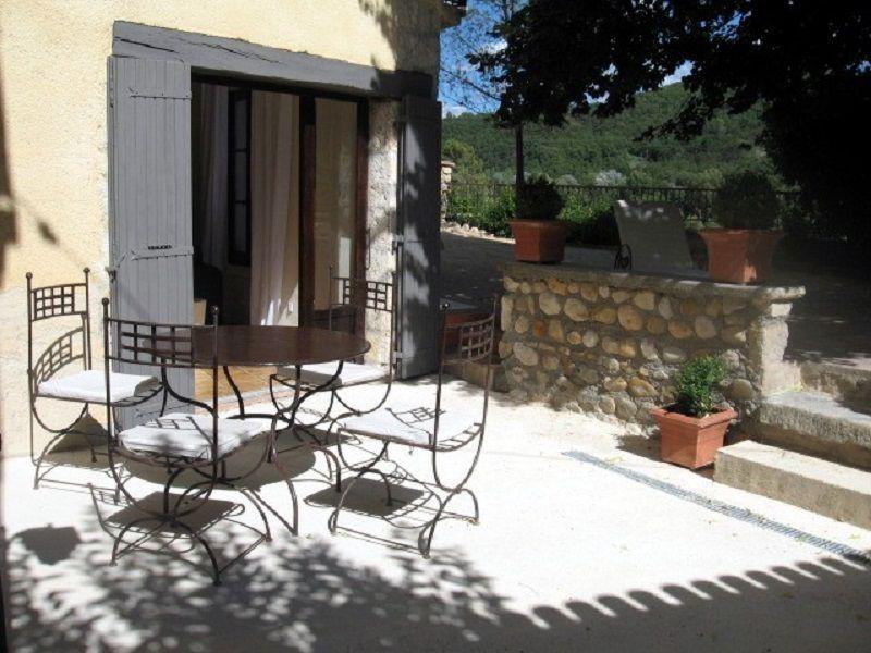 Vue de la terrasse Location Gite 111014 Gréoux Les Bains