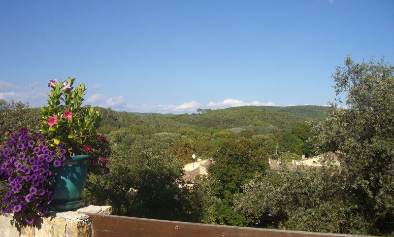Vue de la terrasse Location Gite 113716 Le Thoronet