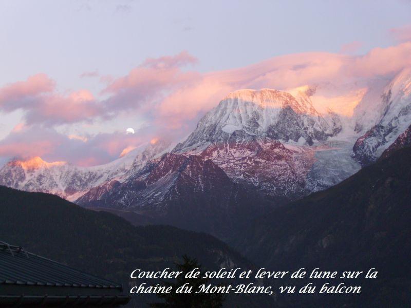 Vue depuis la location Location Studio 69949 Saint Gervais Mont-Blanc