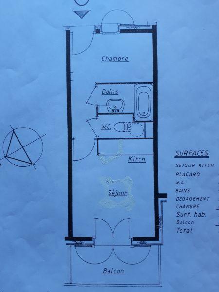 Plan de la location Location Studio 69949 Saint Gervais Mont-Blanc