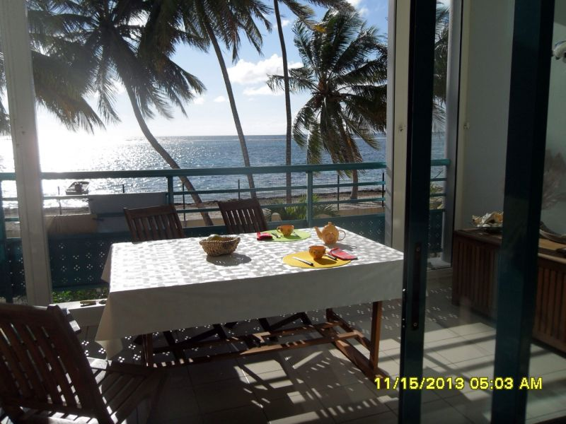 Vue de la terrasse Location Appartement 73786 Sainte Anne (Guadeloupe)