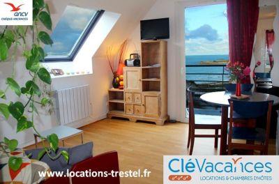Vue depuis la location Location Appartement 79685 Perros-Guirec