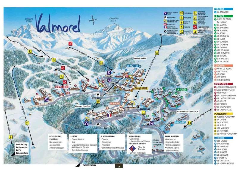Carte Location Appartement 79763 Valmorel