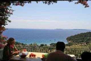 Vue de la terrasse Location Villa 82053 Le Lavandou