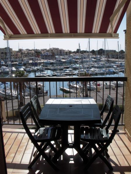 Vue de la terrasse Location Appartement 83876 Port Leucate