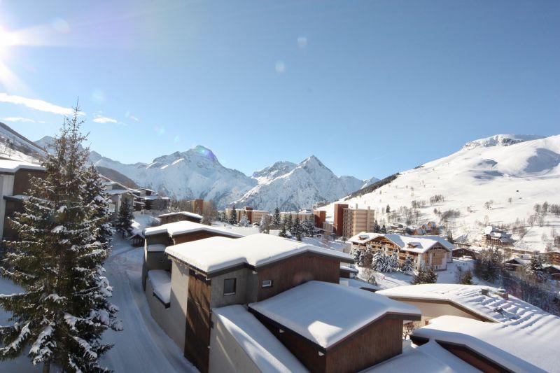 Vue de la terrasse Location Appartement 101201 Les 2 Alpes