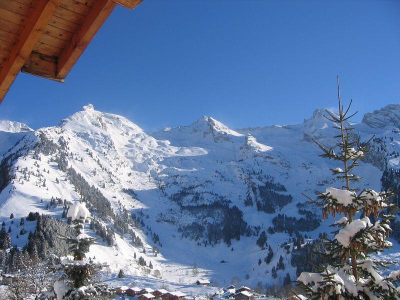 Vue du balcon Location Chalet 112531 La Clusaz